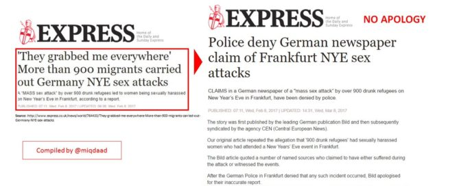 Another Daily Express Retraction