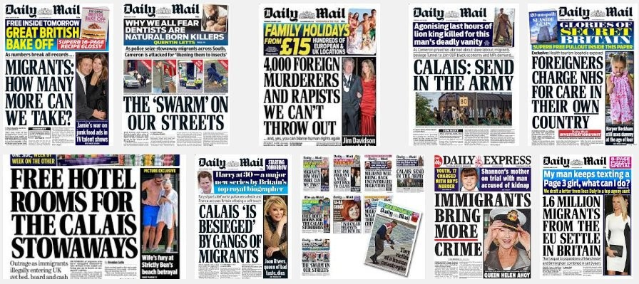 Headlines from the Daily Mail