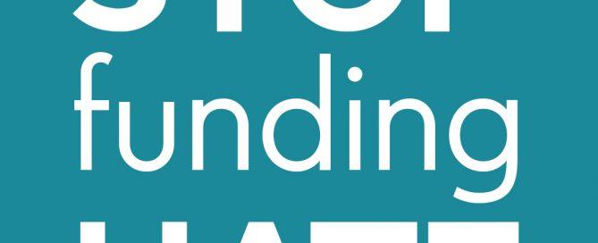 Stop Funding hate logo